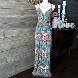 RHAPSODY Paisely Maxi Dress